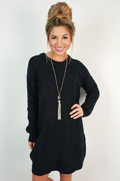 This sweater dress is perfect for sweater weather!