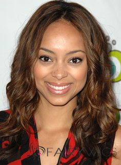 Lastest Trend Medium Wavy Brown African American Lace Wigs for Women