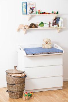 Wickelaufsatz für Ikea Malm Kommode aus beschichteten Birkenholz und runden Kanten