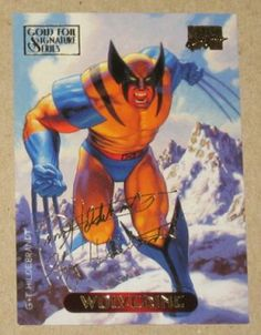Marvel Masterpieces 1994 (Fleer) Gold-Foil Signature Parallel Card #137 Wolverine EX