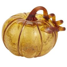 Mouth-Blown Glass Pumpkins