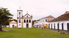 Paraty, Brazil. #destinations #travel Stone Street, Doorway, Wonderful Places, Colonial, Brazil, Costa, Backdrops, National Parks, Destinations