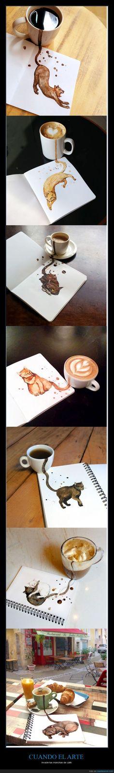 No todas las manchas son un desastre - Invade tus manchas de café Gracias a http://www.cuantarazon.com/ Si quieres leer la noticia completa visita: http://www.estoy-aburrido.com/no-todas-las-manchas-son-un-desastre-invade-tus-manchas-de-cafe/