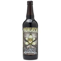 Madagascar • This lusciously thick, inky stout's brewed with vanilla beans and aged in bourbon barrels. The aroma's a dead ringer for a chocolate malt with rich dark chocolate, vanilla and coconut swarming to the nose. The flavor follows suit with sweet chocolate and vanilla in a big, silky body; a little cherry sweetness and peanut weave through the sip. Roasted ash and barrel char in the back signal a long-lasting finish.