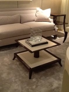 Tiered coffee table. By Baker   2013 Fall High Point Furniture Market Trends by: Asia Evans Artistry for Manteo Furniture #HPMKT