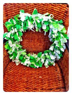 Fabric Scrap St.Patrick's Day Wreath