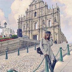 Ruins of St. Hongkong Outfit, Macau Travel, Hong Kong Fashion, Posing Ideas, Travel Guide, Mona Lisa, Travel Photography, Bucket, Wanderlust