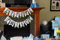 """Little Prince"" Banner for a Baby Boy Shower #babyshower"