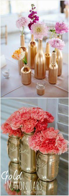 Decorar en dorado. DIY, spray. Visto en www.ecodecomobiliario.com