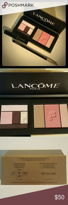 Lancome Bundle - NEW Makeup bundle including spring collection eyeshadow/Blush palette, full size Le Crayon Khol eyeliner and travel size mascara, both in black. Great value!! All are brand new, never used or swatched. Lancome Makeup