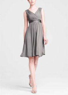 Technically a bridesmaid's dress, but such a flattering cut, and I bet it'd be nice and cool in the heat.