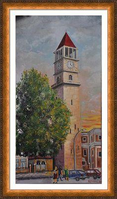 Clock Tirana Framed Print By Frederik Proko
