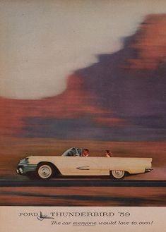 Old '59 Ford Thunderbird AD
