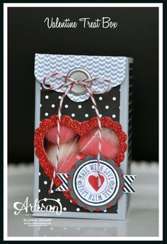 Tutorial  Fun Valentine Treat Packaging  By:AlannaWharf Independent Stampin' Up! Demonstrator