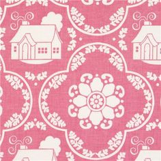 pale pink Riley Blake fabric with cottage und daisy