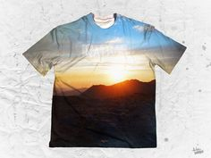"""Nathan Mynus """"Native Skies"""" Men's Crew Neck T-Shirt Part of the Nathan Mynus x Pulse Of Prophets Artist Series This piece is printed exclusively for you on hig Sky Man, Various Artists, Nativity, Vibrant Colors, Crew Neck, Artwork, Prints, Work Of Art, Vivid Colors"""