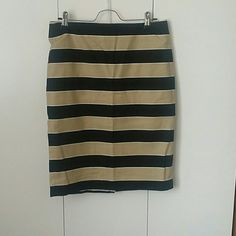 Loft skirt Black and tan. Thick skirt with built in slip. Very nice. Never worn no tags LOFT Skirts Midi