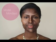 MODEL MONDAYS: Highlight, Contour, Foundation (Dark Skin): Bridal Series (Part 1) - YouTube I LOOOVE the power of highlighting and contouring. It's like airbrushing your face!