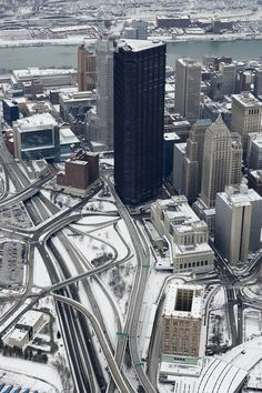 Snow in Pittsburgh, Pennsylvania