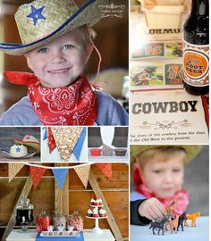 Cowboy Party! All items can be found at www.happywishcompany.com