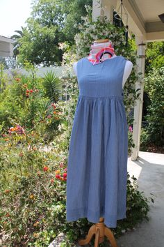 90s Denim Babydoll Dress with Buttons and Cute Details by FoxyRae on Etsy