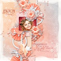 Layout using {My Heart Smile} Digital Scrapbook Kit by Eudora Designs available at PBP   https://www.pickleberrypop.com/shop/manufacturers.php?manufacturerid=173