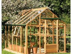 "Wooden greenhouse: ""Classic"" by Juliana - Image 16 - Trend Greenhouse Gardening 2019 Greenhouse Plans, Greenhouse Gardening, Wooden Greenhouses, Natural Farming, Weed Seeds, Safety Glass, Back Gardens, Aquaponics, Growing Plants"