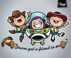 Toy Story Fan Art by Claudia Murillas, via Behance