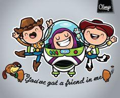 Toy Story Fan Art by Claudia Murillas, via Behance