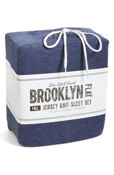 free shipping and returns on brooklyn flat jersey knit sheet set at