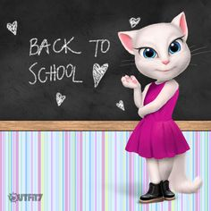 Enjoy your school time  ♥ xo, Talking Angela #TalkingAngela #MyTalkingAngela #LittleKitties