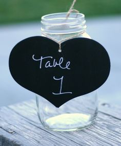 SET of 12 DIY Chalkboard Heart Centerpiece by braggingbags on Etsy, $48.00
