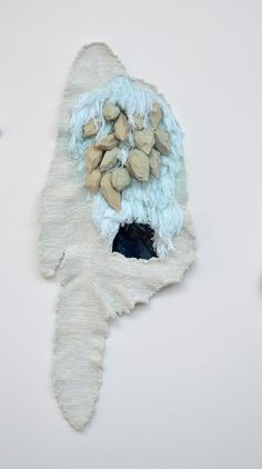 loom-ing:  John Brooks Our Chart (detail) Hand woven wool, cotton, rayon, lurex, expanding foam, latex, digital screen 2013