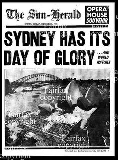 The Sun Herald, 21 October, 1973 - front page Advance Australia Fair, House Under Construction, World Watch, 21st October, Best Places To Live, Movie Posters, Icons, Sun, Organisation