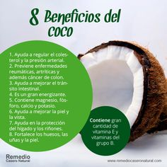 8 beneficios del coco Clean Eating List, Healthy Eating, Acai Berry, Healthy Smoothies, Nutrition And Dietetics, Health And Nutrition, Health Fitness, Health Care, Burnt Food