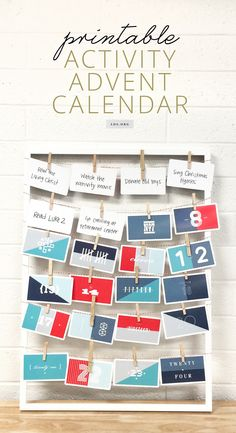 Countdown to Christmas with this printable advent calendar. Complete a new family activity each day. #LDS