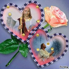 Foto com animação Jesus And Mary Pictures, Pictures Of Jesus Christ, Mary And Jesus, Jesus Is Lord, Beautiful Scenery Pictures, Beautiful Flowers Wallpapers, Beautiful Rose Flowers, Beautiful Fairies, Jesus Drawings