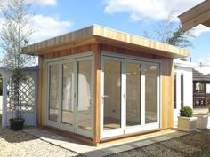 Enjoy our gallery of quality Garden Offices & Studios including log cabins, art studios, teenage dens, lots of inspiring ideas Backyard Office, Outdoor Office, Backyard Studio, Garden Studio, Garden Office, Guest House Shed, Studio Shed, Modern Shed, Garden Buildings