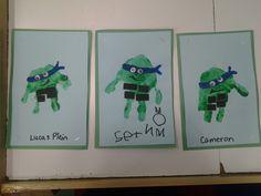 tmnt ninja turtle handprint