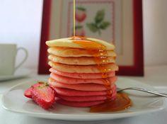 Pink Ombre Pancakes. Cocinando con las chachas blog.