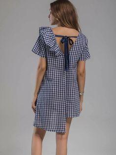 Simple Dresses, Nice Dresses, Casual Dresses, Short Sleeve Dresses, Cheap Dresses, Frock Fashion, Fashion Dresses, Dress Sewing Patterns, Blouse Dress
