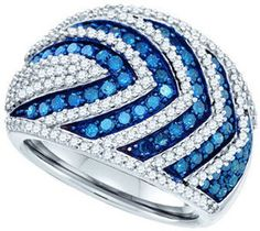 Blue & White Diamond Fashion Band 10K White Gold 1.75 cts. GD-82039 - $799.99 : Diamonds, Engagement Rings, Wedding Bands, His and Hers Sets, America's Largest Engagement Ring and Wedding Band Distributor.