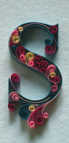 An Alphabet of Ornate Paper Quilled Typography by Sabeena Karnik