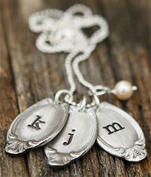 End of a spoon stamped with your initial - so clever!!