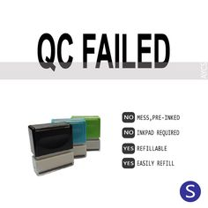 QC FAILED, Pre-Inked Office Stamp, 761706-A
