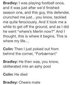 Bradley and Colin play football