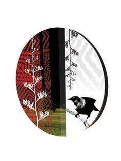 Large Circular Tui Panel – Tantrum Design http://www.shopnewzealand.co.nz/en/cp/Circular_Tui_Panel