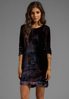 Gypsy 05 Velvet Long Sleeve Peephole Dress in Aubergine (size medium or large, depending)