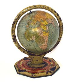 Unusual World Globe Or Orrery Lamp Maps From The Old World - Old maps for sale online