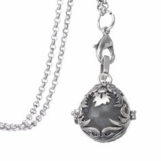 Minimal Aroma Magic Steampunk Egg Shape Gothic Essential Locket Unfoldable Pendant With Luminous Ball Necklace Glow In The Dark